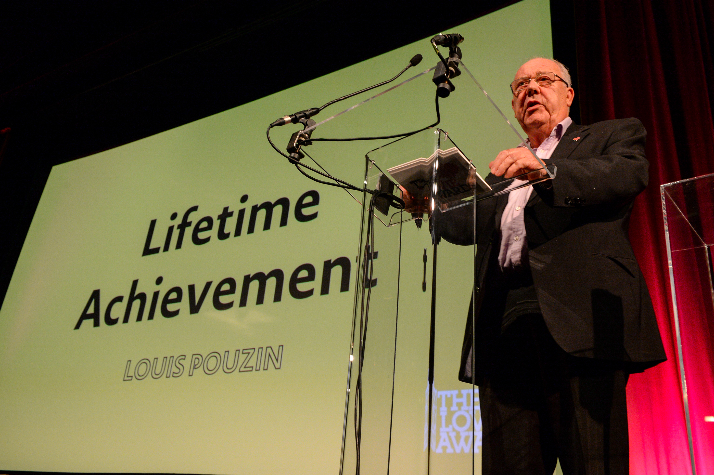 Dr. David Hartley Presents Lovie Lifetime Achievement Award to Louis Pouzin